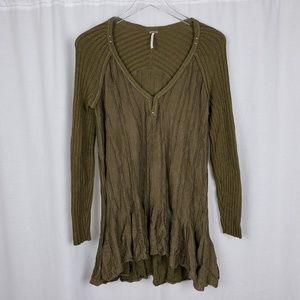 Free People Oversize Ribbed Knit Swing Dress